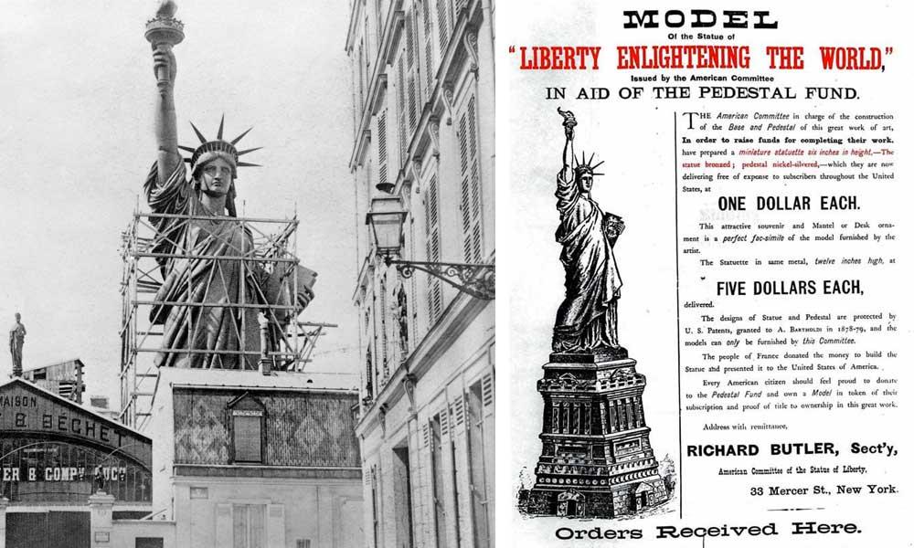 Estatua de la Libertad, crowdfunding